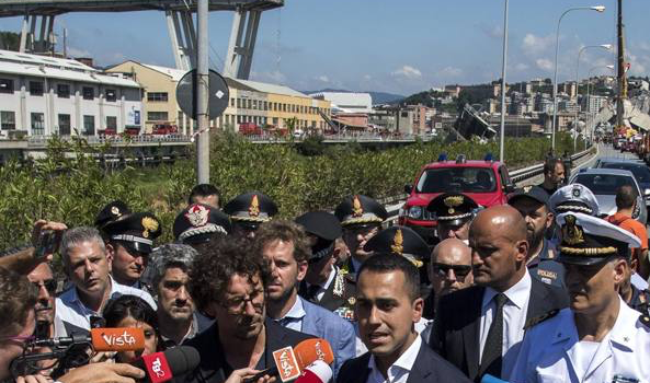 Ponte di Genova, Di Maio: «Va ricostruito da azienda di Stato».